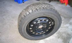 I have a set of four snow tires for sell... P195/60 R15 Magna Grip on black rims 4 bolt pattern. used for 2 winters on an Elantra. Asking $300.00