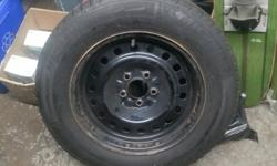 235/60R16 New Michelin Winter tires on steel rims 5x4.5. Used 1 winter. Came off 2001 Crown Vic.