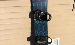 Rossignol Snowboard (152cm) w Burton Bindings Burton Boots - ladies size 7 All like new - Only used once!
