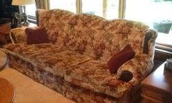 sofa, love seat and swivel rocker. All in good condition. Free to anyone that would like to make a small donation to the food bank of their choice.