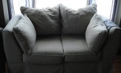 Over sized sofa and loveseat for sale. Good condition. The sofa is sagging a bit in the middle. :( Willing to sell separately. Asking $750.00 OBO for the pair. Please contact to view in person. Smoke free home.