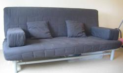 Sofa bed IKEA (BEDDINGE L�V�S) + 4 cushions in VG condition from no pets, no bugs home. Must go by 14 Oct. Please call 778-384-4-One-52, Oleg