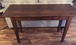 """Beautiful solid maple 2-drawer console table from Shockey's. 48""""w 18""""d 29.5""""h"""
