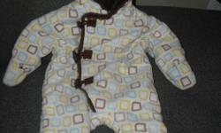 Soft and fleecy! Excellent condition. Fits a 3-6 month old baby.