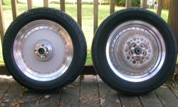 For sale a set of vance and hines sling shot pipes, satin finish fatboy rims with tires, quick disconnect windshield, rotors, calipers, axle covers, tail light cover, belt guards. All parts are excellent shape and off a  98 softail fatboy. E-mail for