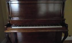 SOLD Piano and Bench Trade Mark March 4, 1904 New Scale Williams Serial #47621 Ornate New Scale Williams upright piano. Manufactured in early1900s by the Williams Piano Co. of Oshawa, Ontario. Original ivory keys, all original parts. Some minor