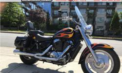 2007 Honda VT1100 Shadow Sabre Cruiser * Nicely dressed! * $5899. The VT1100 is part of the Honda Shadow family of V-Twin cruisers. This is a very nice example with factory flame paint and very well dressed. Serviced with new rear brakes, Amsoil synthetic