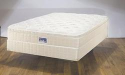 Sears-o-pedic queen size pillow top matrres, box spring, and metal bed frame. From non-smoking home. In good used shape. Few stains on top, however, bed has been cleaned and deoerdized. $125 obo. We would trade these items for double size