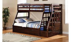 VIST US AT 7040 TORBRAM RD UNIT 10 MISSISSAUGA L4T 3Z4 WE SHIP CANADA WIDE CALL US NOW @ 905-677-3463 HOURS MONDAY-SATURDAY 10:00-8:00 SUNDAY 11:00-6:00 BEAUTIFUL LOOKING SINGLE OVER DOUBLE WHITE BUNKBED SET WOOD BUNK BED SET ONLY FOR ONLY $869 AVAILABLE