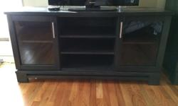 Selling my solid wood tv stand. Retails new for $789+tax. I bought it only a few years ago. But I'm reorganizing my bedroom, and I just don't have the space for it and I'm not using it. So I figure I may as well sell it, and make space. Colour is