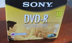 NEW SONY BLANK DVD-R 10 PK. ALSO CHECK MY SELLERS LIST . PHONE ONLY