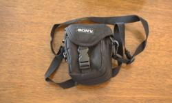 Sony made camera case, would fit small digital or film camera, or use for W.H.Y.