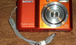 Sony Cyber-Shot digital camera. Model DSC-S2100. 12.1 mega pixels. Comes with SD card, manual and software. This camera has had virtually no use. There is no damage anywhere on this camera. Like new. $45 250-748-4964