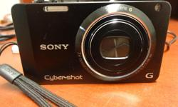 Sony Cybershot Digital Pocket Camera for only $40 - in great working condition. 7 x Zoom for photos and video. Hard black camera case, usb/ hdmi and charging cables, lithium battery and 8GB memory card are all included in this price. Available now -