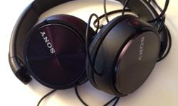 Sony headphones model mdrzx110b. Used x2. As new. $ 15 obo