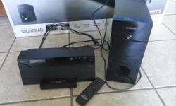 Sony Microsystem with sub woofer and Ipod docking station. Also comes with remote.