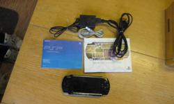 Sony PSP bought new in June 2010, hardly used.  Comes with all userguides, charger, USB cable, extra screen protector. As new condition $125.00 obo.