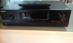 Sony str-dh130 stereo reciever. In mint condition, comes with remote. This unit is current model at Best Buy, retails for $199 Asking $90