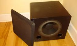 "Like new Sound Dynamics Subwoofer 10"" Amazing base for music or a theater room. Was purchased last year for much more from a shop that had recently completed a full service and inspection on it. Works Perfect, can be heard in action on my home reciever."