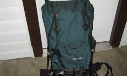 Great external backpack for one or two nights of camping. Has metal clips so your load won't slip!