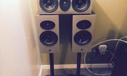 """Selling Athena audio series speakers with 12"""" Polk Audio sub. The speakers model numbers are AS-B1, AS-B2, AS-C1 and the sub is Polk PSW-505 rated at 300 watts RMS. This sub sells brand new at visions right now for $500! They all sound great and the sub"""