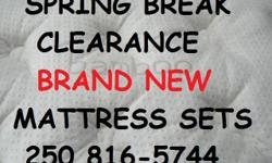 My warehouse is overstocked with Brand new mattresses and sets. Special discounts on already clearance prices. Phone Dan at 250 816-5744 to check it out.