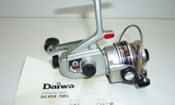 Daiwa Silver 70RL spinning reel. This small reel is perfect for trout fishing. It's size makes it ideal for backpacking. $25. Phil 250-652-9747
