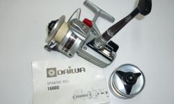 Diawa 1600D trout spinning reel with extra spool. $35. Phil 250-652-9747.