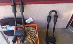 Pair of near new SportRack brackets for carrying kayak, very good condition. 100.00 for the pair. You can have a look at these Tuesday to Friday from 11:00 AM to 5:00 PM and Saturday 11:00 AM to 4:00 PM at 151 Jubilee St. in Duncan, BC. I'm probably here