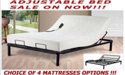 Queen size lifestyle adjustable bed combo special includes: your choice of 4 different quality mattresses ! The Fleet-Z metal mesh adjustable electric bed features 2 motors for head and foot adjustments and includes an easy to use push button wire remote