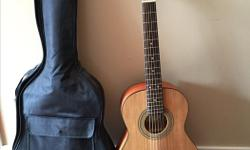 Like NEW Squier Acoustic 3/4 size guitar & Fujiyama soft case. Used for only 2 months of Junior lessons.