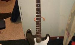 I am selling my Squier P-bass. It is a great beginners bass, and a wonderful instrument to learn on. It has been sitting in my room collecting dust, so i decided that its probably time for me to hand it off to someone else. This bass is in great shape;