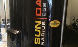 Radius 252 stand up booth in good condition with two new plexiglass panels. TAnning salon closed must sell