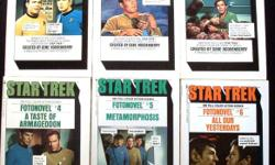 """Collectible """"Star Trek Fotonovels"""" Complete 12 Volume Set. Bantam Books - 1977. First Edition Paperbacks. All of these 1st Editions include 300 full-color authentic scenes in each volume. All of the pages are crisp and clear and none are loose, ripped, or"""