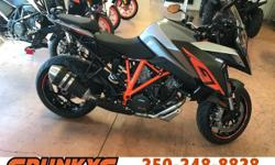 Make KTM Year 2017 The 2017 1290 Super Duke GT is on Sale now @ Spunkys with $2500 Off The MSRP!! $21 499 - $2500 = $18 999!! Plus $950 FT/PDI + $199 Doc Fees/Tire Levy + Tax. Call Today Before Its Too Late!
