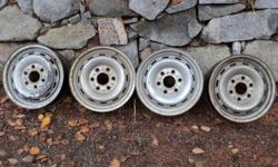 Steel GMC 16 inch rims for a 1997-98 half ton truck, 6 bolt pattern. Please call 250-352-7655.