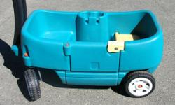"""STEP 2 WAGON PLUS. Kids ride on wagon. 36 x 19 x 17.5 in. or 91 x 48 x 44 cm. In very good condition. Its a house number so texting will not work. """"""""DO NOT"""""""" CALL BEFORE 8 am. OR AFTER 9:00 pm. CASH ONLY. PICKUP ONLY VIEW MAP for general location. View"""