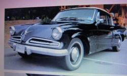 Make Studebaker Model Champion Year 1953 Colour BLACK SELLING FOR A FRIEND 1953 STUDEBAKER CHAMPION COUPE REBUILT OHV 6 CYLINDER ENGINE , 3 SPEED WITH OVERDRIVE , NEW PAINT & INTERIOR . PHONE ONLY 250-748-9454