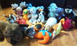 Stuffed animals, sanitary, grand daughter rarely used, sat on shelf mostly