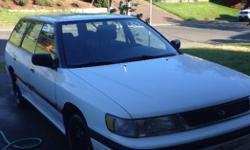 Make Subaru Model Legacy Wagon Colour White Trans Automatic kms 178000 Nice wagon Third owner, used little and have put in well over $2500 in repairs and comes with new summer and winter tires. This car sits in my driveway now and is waiting for a good
