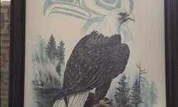 """These stunning captures of nature's beauty are limited editions of 350 prints from 1985. The orca and the eagle prints measure 14"""" x 21"""" plus their frames. Asking $50 obo, frames included."""