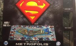 Superman 4D Puzzle METROPOLIS 100% complete 833 pieces. Ages 12 and up. Asking $25 obo.