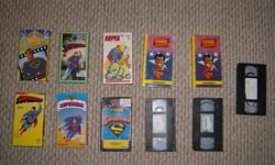 11 Superman VHS videos