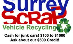 www.surreyscrap.com We will pick up and dispose of your scrap for free! We also pay you for ALL scrap we take. Between $$150 and $$500 is the usual amount. Call us for a quick pick up today! Cheers! 604 628 9044 insured trucks and drivers safety inspected