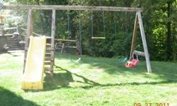 We are selling our Swing N Slide outdoor play structure.  It comes equipped with 2 swings, Wave Slide, Trapeze Bar, Set of Rings, & Child Seat.  Structure is in good condition.  250-354-3867