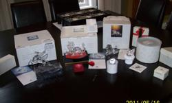 Swvorski annual collector pieces 1995..lion 1997...dragon 1998...pegasus 1995...swan also paper weights, heart and diamond shape, lapel pin.  Willing to sell all or single pieces, open to any reasonable offer.  These pieces have never been displayed, and