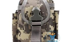 "Tactical Military Molle Utility Belt Waist Phone Bag - Camouflage - water-resistant nylon material - W4"" x D3"" x L5-1/2"" - brand new, never used - $20 firm"