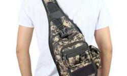 "Tactical Military Molle Utility Crossbody Sling Bag - Camouflage - W7-1/2"" x D5-1/4"" x H12"" - brand new, never used - $45 firm"