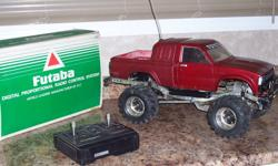 Very rare!                  Tamaya Bruiser 4x4 Radio Control Car                Complete with original radio in box,                Also comes with new updated battery and charger.                All in good working order.                         $350.00