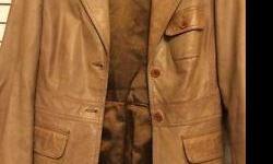 Gorgeous Tan Leather Blazer Danier Size Small Excellent Condition